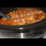 crock pot with black bean & sweet potato turkey chili