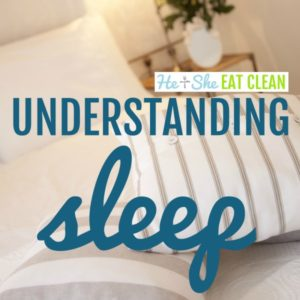 picture of white linens on a bed with text that reads understanding sleep