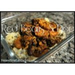 red beans and rice in a glass bowl