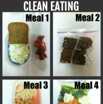 clean eating meal ideas - 4 different meals square image