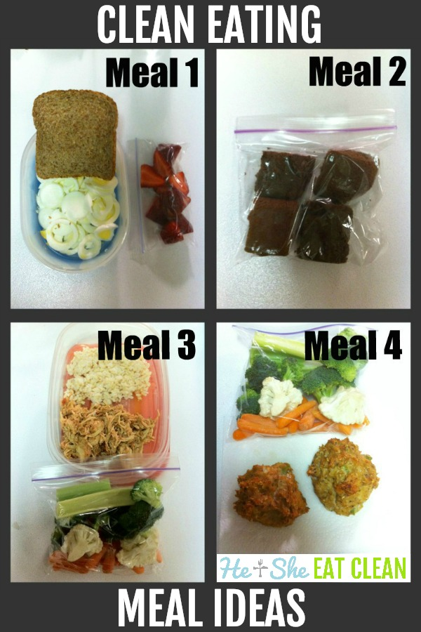 clean eating meal ideas - 4 different meals