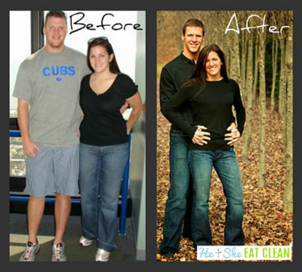 weight loss before and after of a couple - he and she eat clean original photo