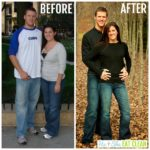 weight loss before and after of a couple - he and she eat clean
