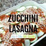 zucchini lasagna in a pan square image
