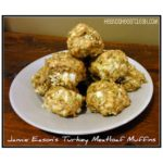 Jamie Eason's Turkey Meatloaf Muffins on a beige plate