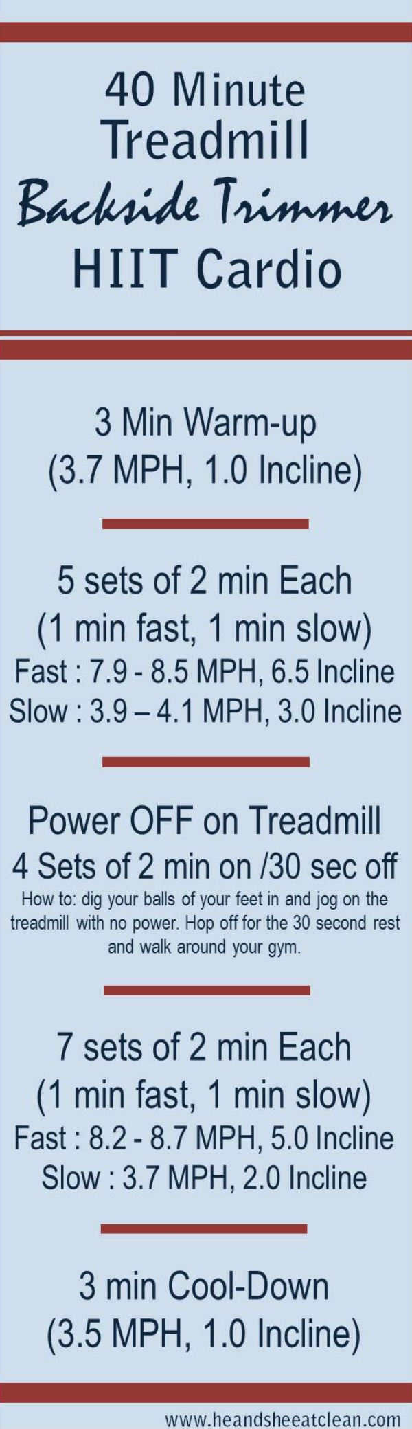Backside Trimmer Treadmill HIIT Workout
