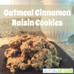 Oatmeal Cinnamon Raisin Cookies on a brown plate