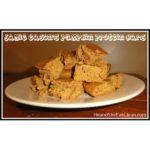 pumpkin protein bars on a white plate