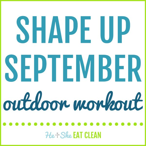 text reads shape up September outdoor workout