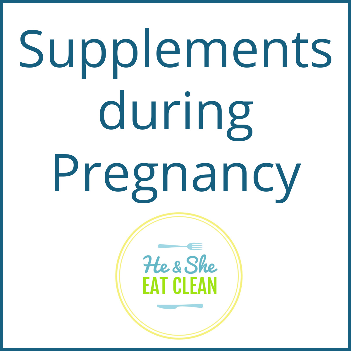 square image text reads supplements during pregnancy