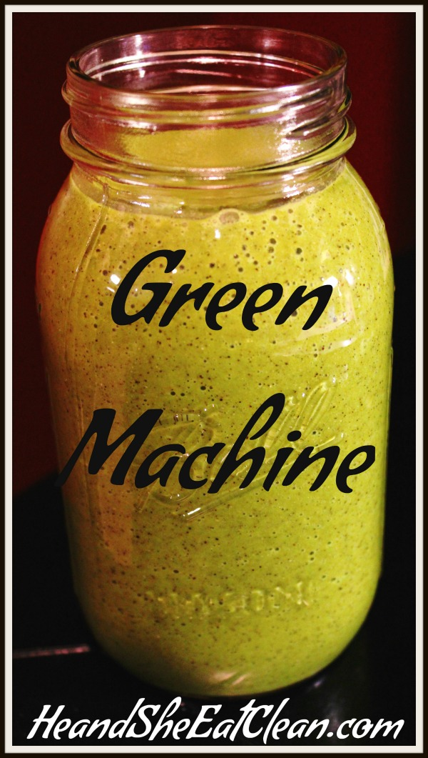 green juice in a large mason jar