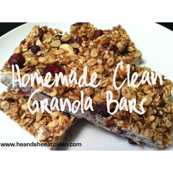 homemade granola bars on a white plate
