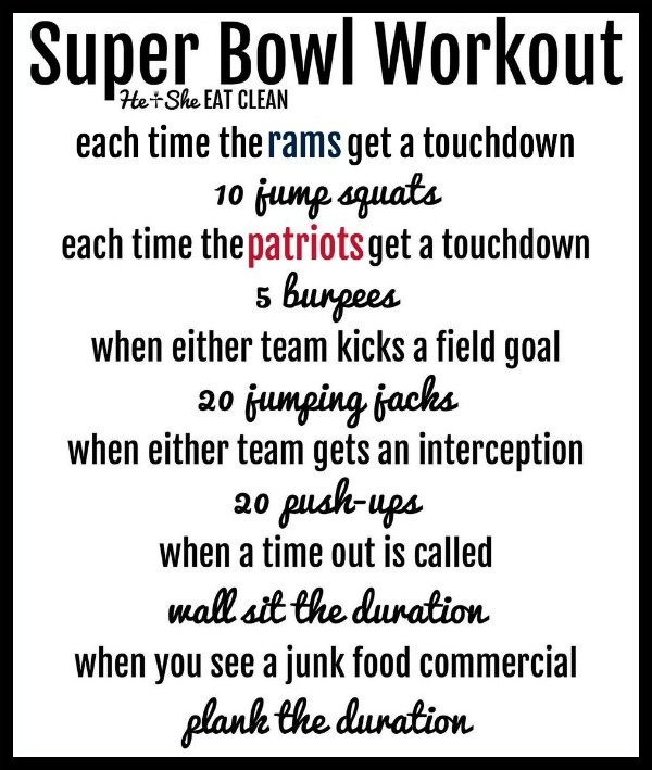 super bowl workout for Rams and Patriots