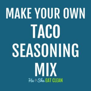 text reads make your own taco seasoning mix
