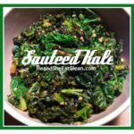 beige bowl of green sauteed kale