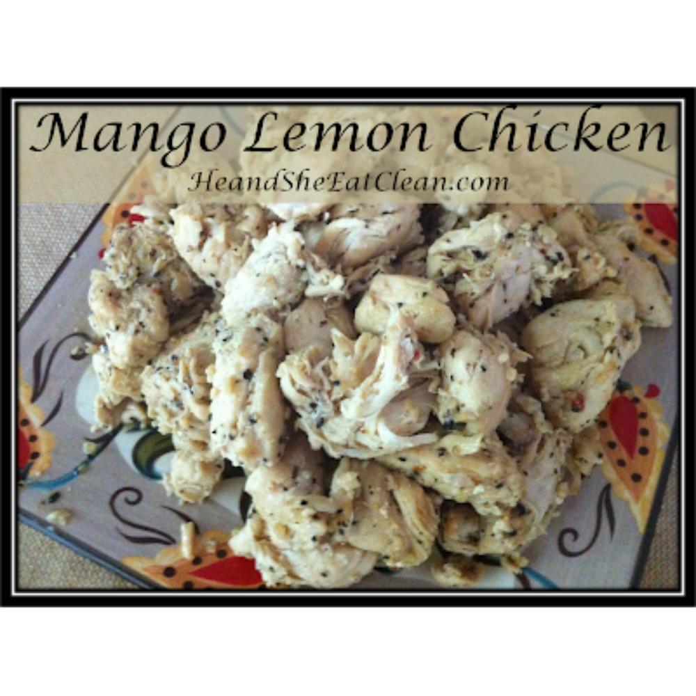 Mango Lemon Chicken on a plate