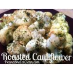 roasted cauliflower on a brown dish