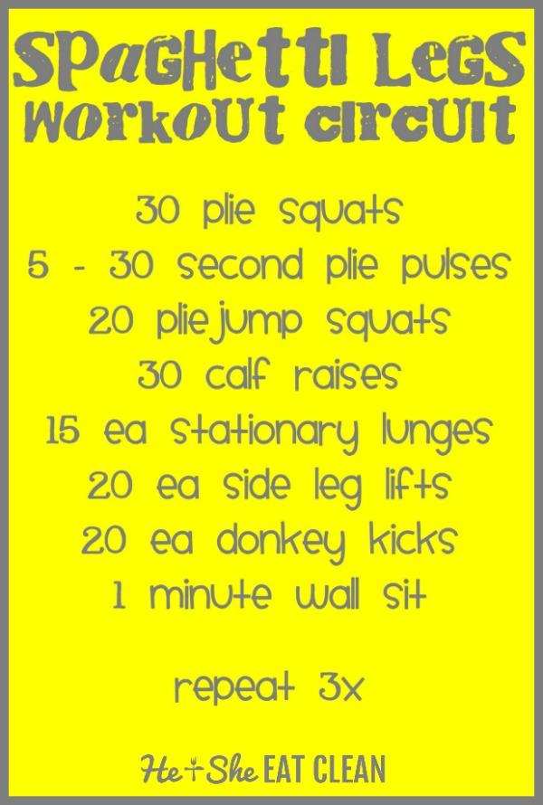 spaghetti legs workout circuit