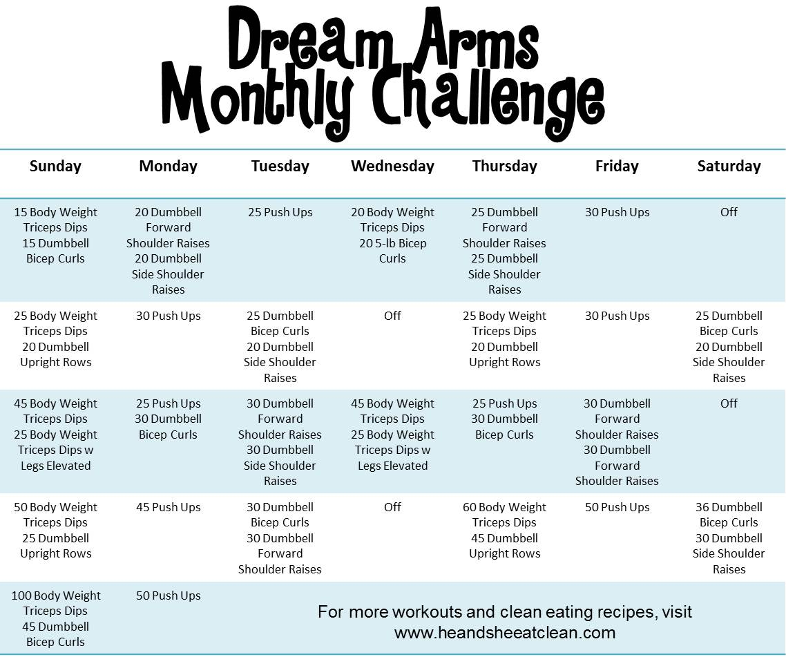 Monthly Challenge Dream Arms