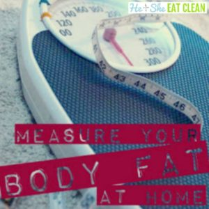 weight scale with text that reads measure your body fat at home square image