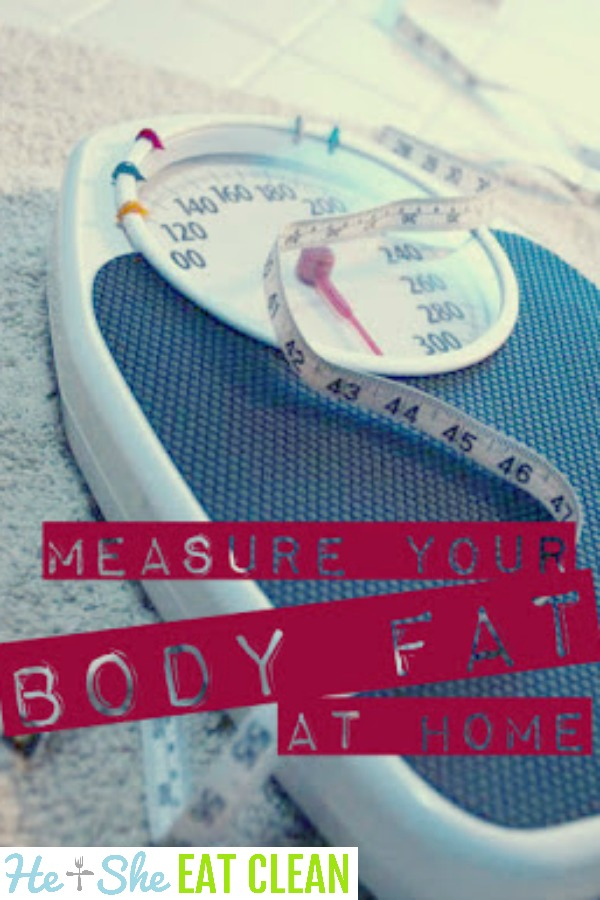 weight scale with text that reads measure your body fat at home