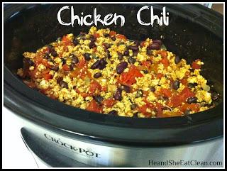 chicken chili in a crockpot