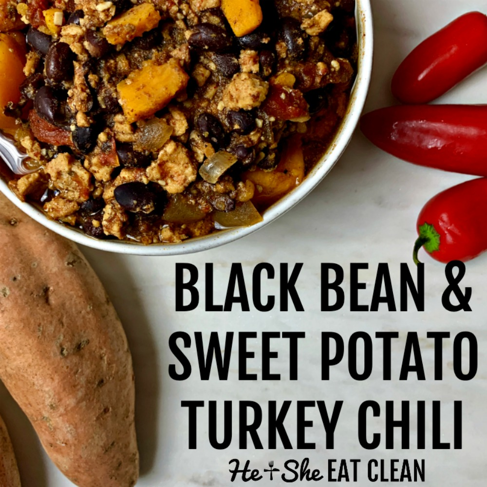 Crock Pot Turkey Black Bean Chili With Sweet Potato