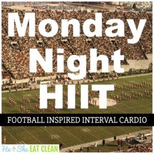 Monday Night HIIT Football Inspired Interval Cardio