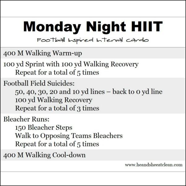 Monday Night HIIT - Football Inspired High Intensity