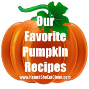 clipart pumpkin with text that reads our favorite pumpkin recipes