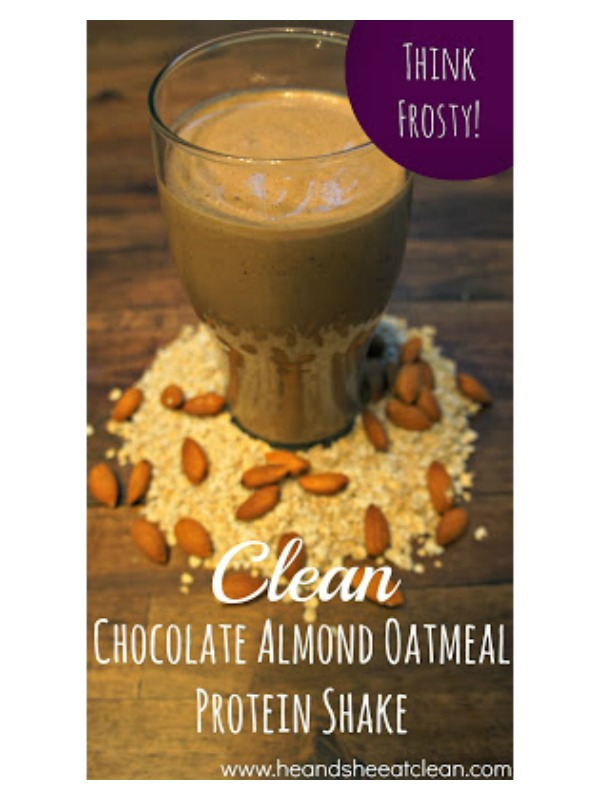 chocolate almond oatmeal protein shake