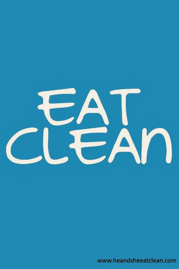 text reads eat clean