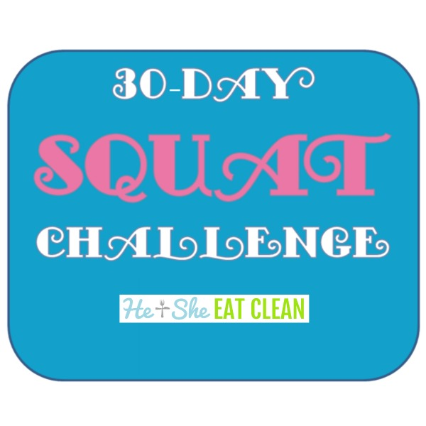 text reads 30 day Squat Challenge