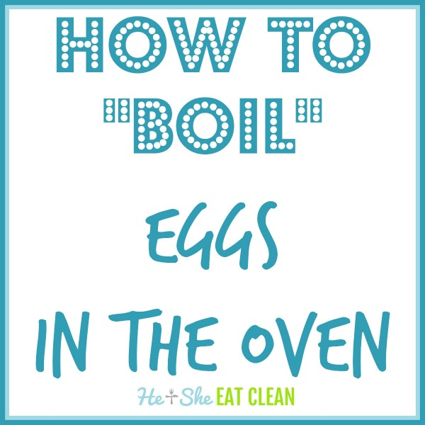 text reads how to boil eggs in the oven