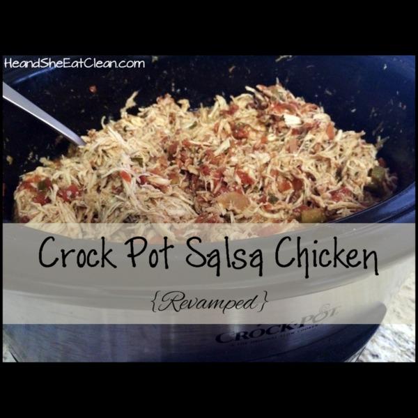 crockpot full of salsa chicken