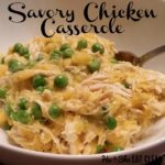 Savory Chicken Casserole in a white bowl square image