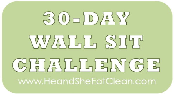 text reads 30-day wall sit challenge
