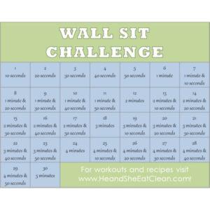 wall sit challenge calendar