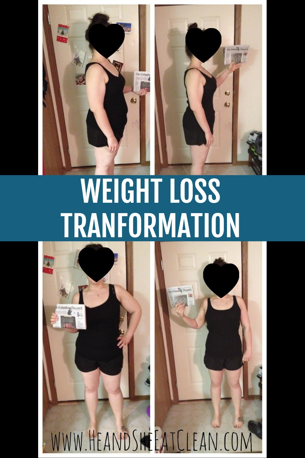 female weight loss transformation photo collage
