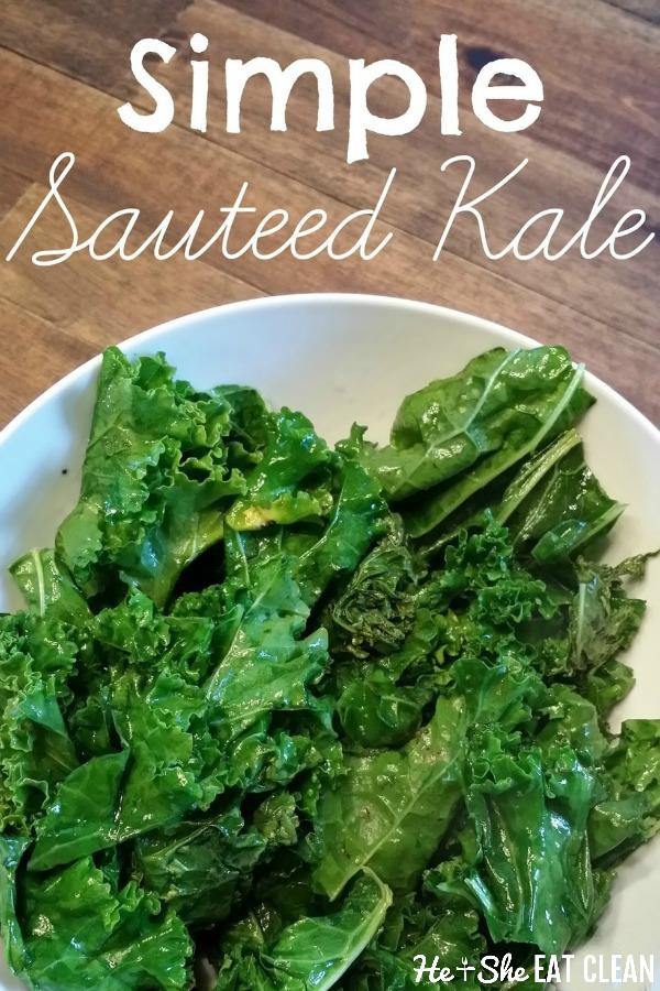 sauteed kale on a white dish