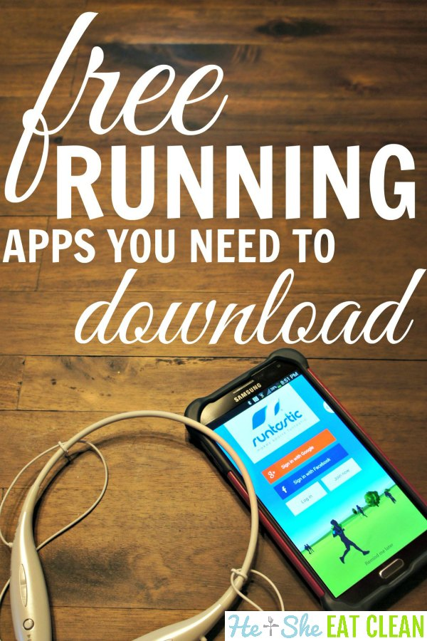 phone and headphones on a wooden table with the text free running apps you need to download