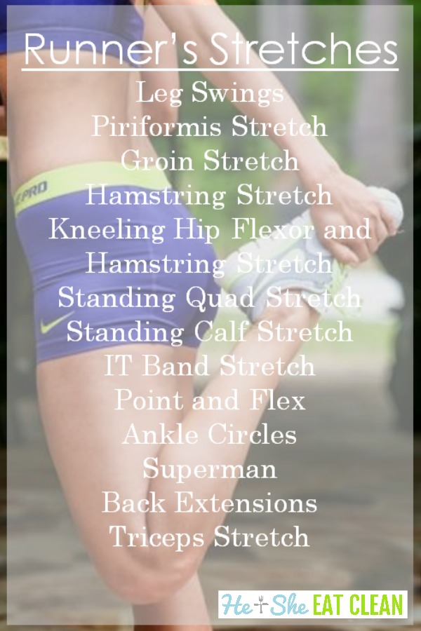 women stretching with text that reads 5 stretches you must do if you are a runner with stretches listed
