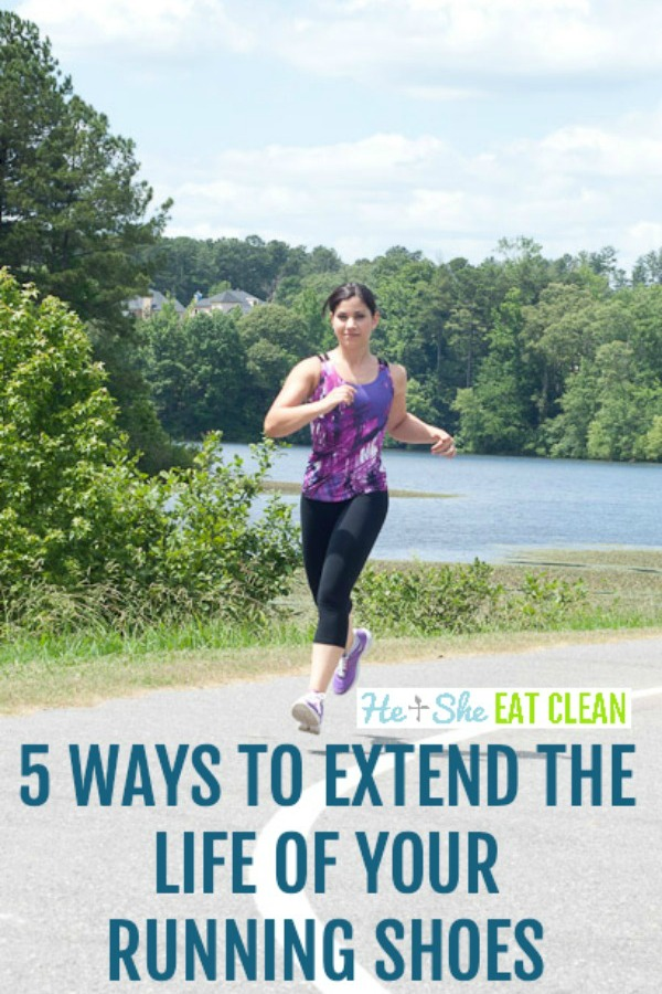 female running with text that reads 5 ways to extend the life of your running shoes