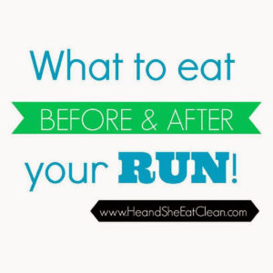 text reads What to eat before & after your run