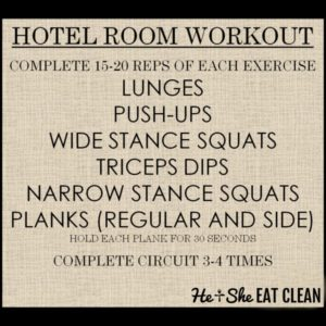 hotel room workout listed