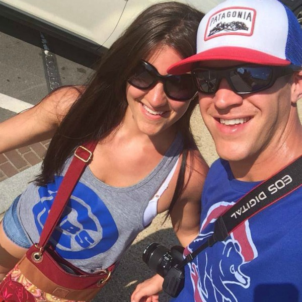male and female in Cubs gear before the Cubs vs Nationals game in Washington DC