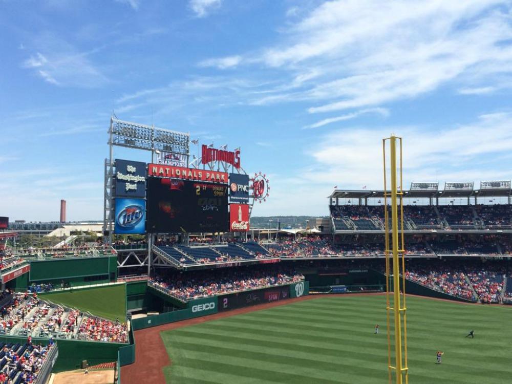 Nationals baseball stadium in Washington DC