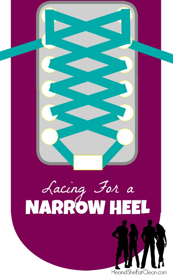 text reads lacing for a narrow heel