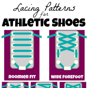 text reads lacing patterns for athletic shoes square image