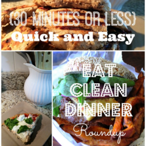 collage of recipe photos for clean eating dinner square image
